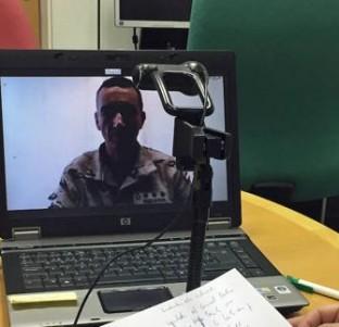 Charla con los militares españoles desplegados en Irak